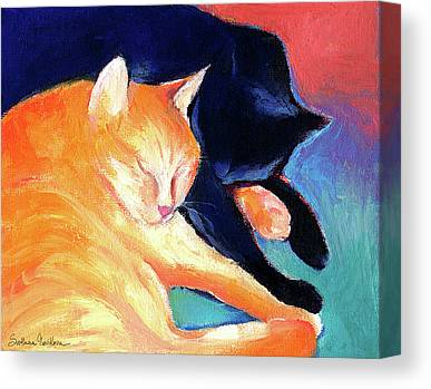 Tabby Drawings Canvas Prints