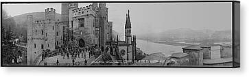 Gothic Germany Canvas Print - Stolzenfels Castle Koblenz Germany by Fred Schutz Collection
