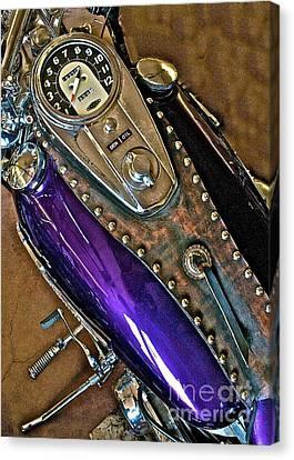 1953 Purple Harley Panhead Canvas Print