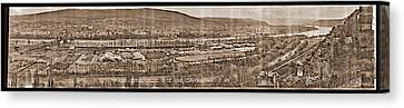 3rd Army Carnival, Coblenz On The Rhine Canvas Print