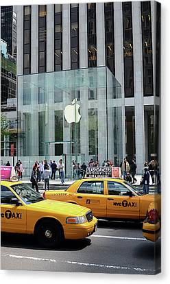 Apple Store In 5th Avenue, Manhattan Canvas Print by Nano Calvo