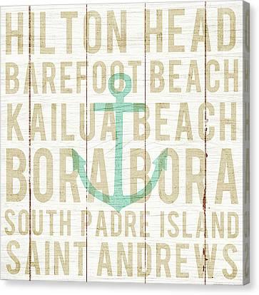 Bon Voyage Anchor Canvas Print by Michael Mullan