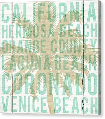 Venice Beach Palms Canvas Print - Bon Voyage California Palm by Michael Mullan