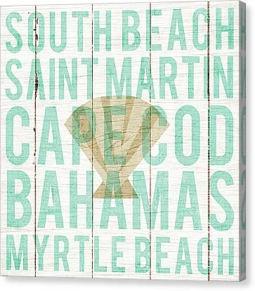 Saint-martin Canvas Print - Bon Voyage Shell by Michael Mullan