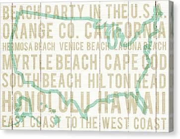 Bon Voyage Usa Canvas Print by Michael Mullan