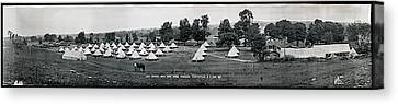 Fayetteville Canvas Print - Camp Newayo, New York State Troopers by Fred Schutz Collection