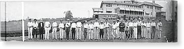 Chamber Of Commerce Golf Outing Canvas Print by Fred Schutz Collection