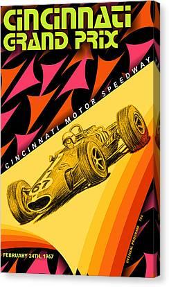 Cincinnati Grand Prix 1967 Canvas Print by Georgia Fowler