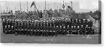 Destroyer Isabel & Crew 1919 Canvas Print