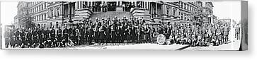 Fire Department Band Washington Dc Canvas Print by Fred Schutz Collection