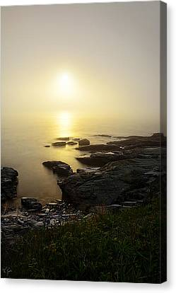 State Of Rhode Island Canvas Print - Flicker Of Twilight by Lourry Legarde