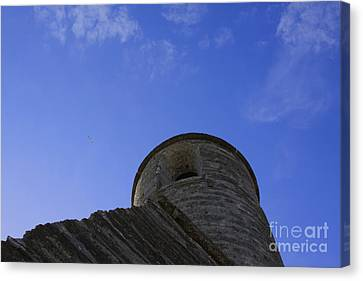 Canvas Print featuring the pyrography Fort Tower by Chris Thomas