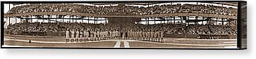 Baseball Uniform Canvas Print - Grotto Vs. Almas Shrine Washington D.c by Fred Schutz Collection