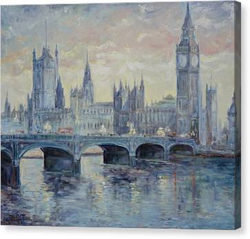 London Westminster Bridge Canvas Print by Irek Szelag
