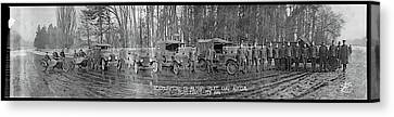 Police Canvas Print - Military Police Camp Auteuil Paris by Fred Schutz Collection