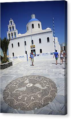 Panagia Canvas Print - Oia Main Square by Nano Calvo