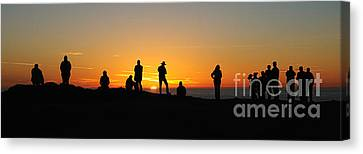 Panorama Everyone Likes A Sunset Canvas Print by Vivian Christopher