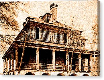 Canvas Print featuring the digital art This Old House by Chuck Mountain