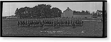 Police Canvas Print - Troop G. N. Y. State Troopers Syracuse by Fred Schutz Collection