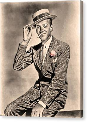 Canvas Print featuring the painting Young Mr.astaire by Tyler Robbins