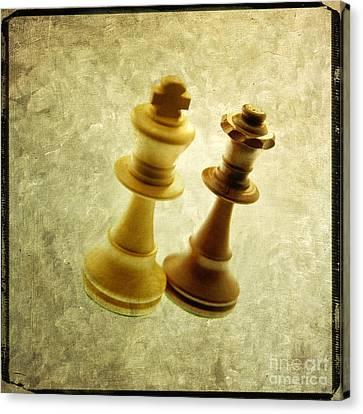 Chess Pieces Canvas Print by Bernard Jaubert