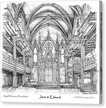 Centre Canvas Print - Angel Orensanz Jane And Edward's Wedding by Building  Art