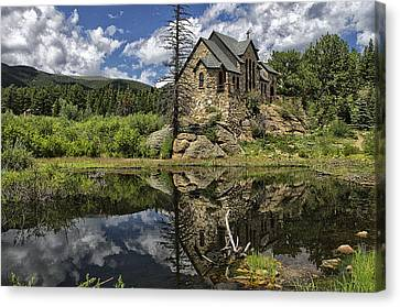 Chapel On The Rock Canvas Print by Michael Krahl
