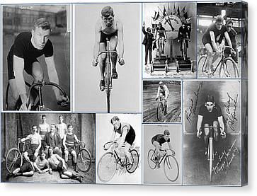 Early 20th Century Bike Racers  Canvas Print by Don Struke