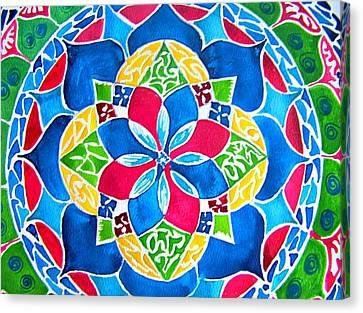 Mandalas Circle Of Life Canvas Print