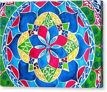 Mandalas Circle Of Life Canvas Print by Sandra Lira