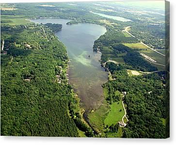 Canvas Print featuring the photograph  C-013 Cedar - Little Cedar Lake Wisconsin by Bill Lang