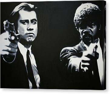 - Pulp Fiction - Canvas Print by Luis Ludzska