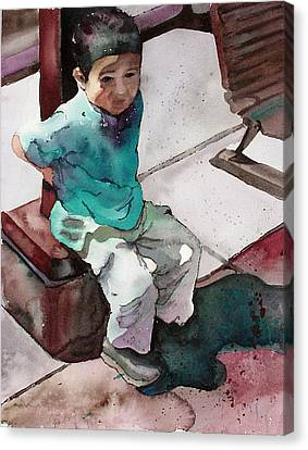 Canvas Print featuring the painting Andrew by Yolanda Koh