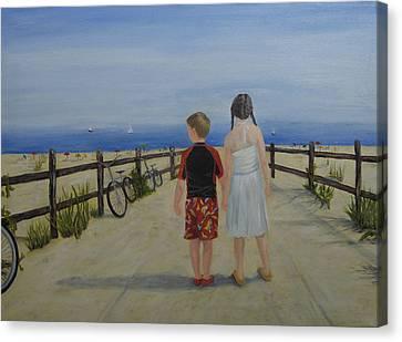 Beach Holiday Canvas Print by Roseann Gilmore