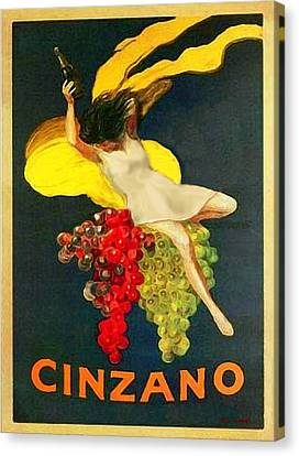Cinzano Girl Canvas Print by Nick Diemel