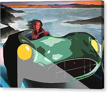Girl In Green Aston Canvas Print by Geoff Greene