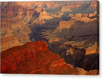 Grand Canyon At Sunrise Canvas Print by Stephen  Vecchiotti
