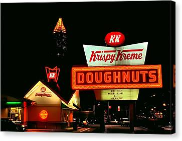 Atlanta Convention Canvas Print - Krispy Kreme Doughnuts Atlanta  by Corky Willis Atlanta Photography