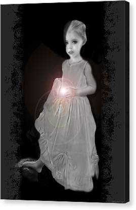 She Brings The Light Canvas Print