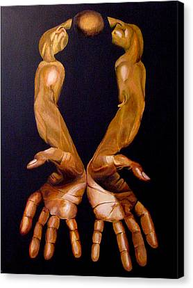 The Hands Of A Body Builder Canvas Print