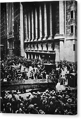 Wall Street Crash 1929 Canvas Print by Granger