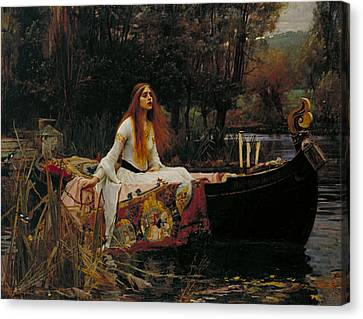 Williams River Canvas Print - The Lady Of Shalott by John William Waterhouse