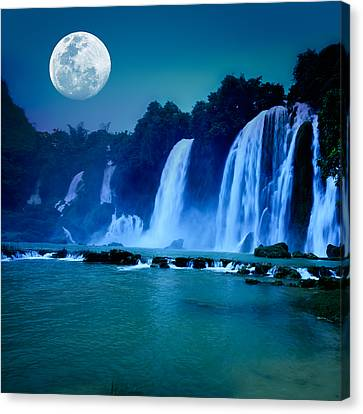 Copyspace Canvas Print - Waterfall by MotHaiBaPhoto Prints