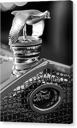 Quail Canvas Print - 1930 Ford Quail Hood Ornament 3 by Jill Reger