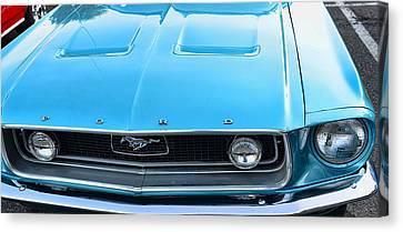1968 Mustang Fastback Hood Canvas Print by Paul Ward