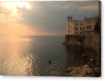 Miramare Sunset Canvas Print by Ian Middleton