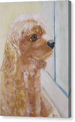 Rusty Aka Digger Dog Canvas Print by Patricia Cleasby