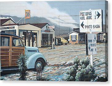 29 Palms Flood Mural Canvas Print by Bob Christopher