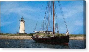 Edgartown Light Canvas Print by Michael Petrizzo