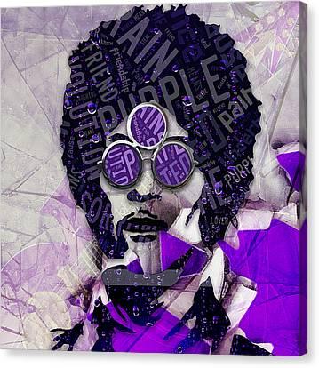 Prince Canvas Print - Prince Purple Rain by Marvin Blaine